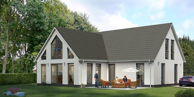 velků dům s terasou